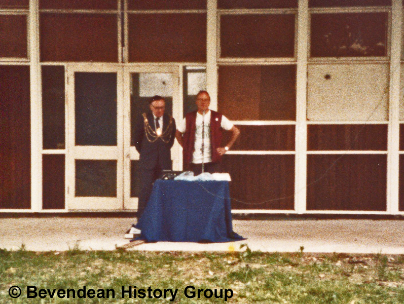 July 1985 Official opening Mayor Robert Christofoli & Vince Wild