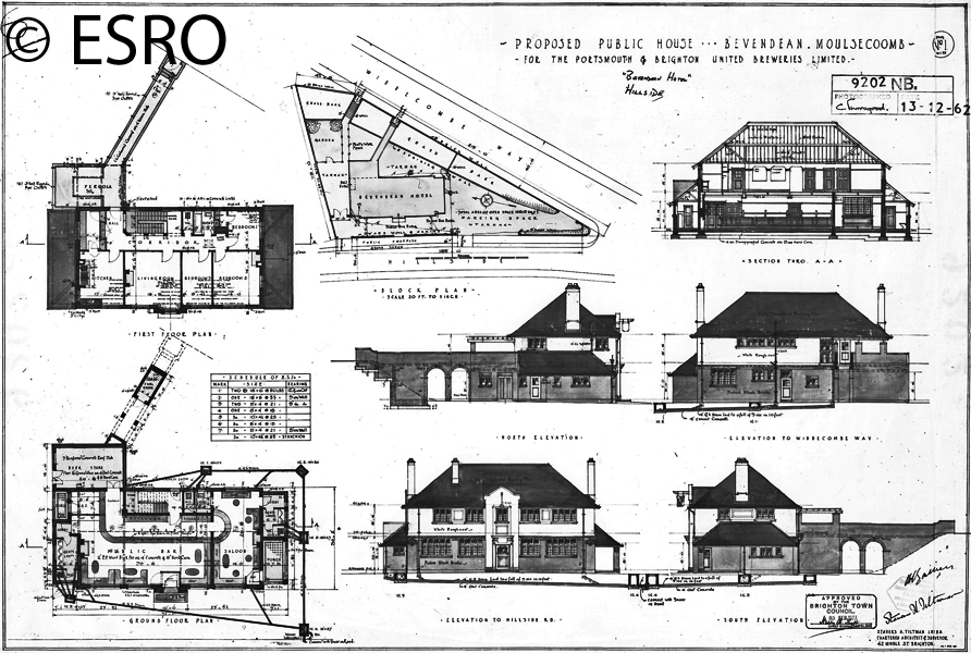 Bevendean Hotel Plan dated 23 February 1933