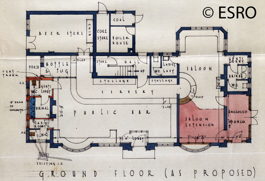 Bevendean Hotel modified plan May 1936