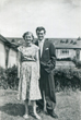 Brian with his mother in the garden no. 47, a week before he went to do my national service