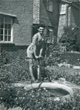 Brian helping to dig a pond in the garden for my friend's mother at no. 119 the Avenue