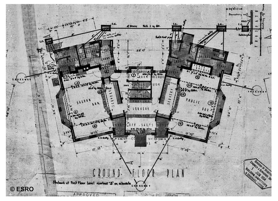 1954 White Admiral ground floor plan