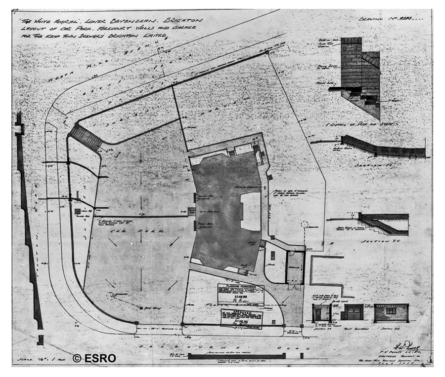 1954 White Admiral site plan