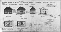 April 1949 Plan for 20 houses Brighton ex-servicemens society NOT BUILT