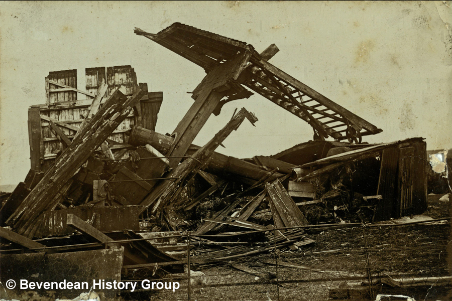 Windmill blown down on 16 May 1913